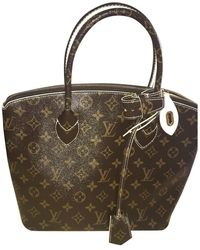Louis Vuitton Borsa a mano in tela marrone Lockit Vertical
