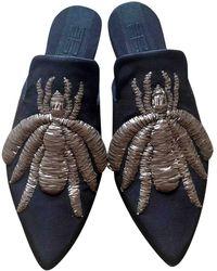 Sanayi 313 Leather Mules - Brown