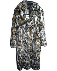 Moschino Faux Fur Coat - Multicolor