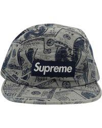 Supreme Chapeaux & Bonnets \N en Synthétique Bleu - Multicolore
