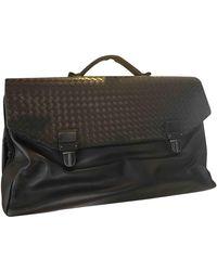 Bottega Veneta Leather 48h Bag - Brown