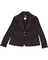 Chanel - Brown Wool Jacket - Lyst
