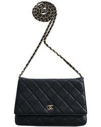 Chanel Borsa a tracolla Wallet on Chain in Pelle - Nero