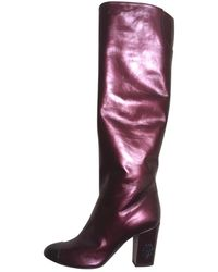Chanel Leather Riding Boots - Multicolour