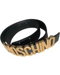 Moschino Cinturón de Cuero - Multicolor