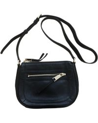 3e08895744e2 Lyst - MICHAEL Michael Kors Delfina Large Leather Saddle Bag in Black