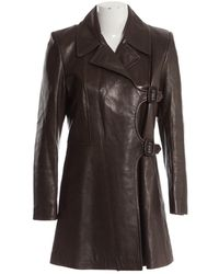 Barbara Bui Brown Leather Jacket