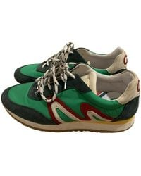 Claudie Pierlot Spring Summer 2019 Leather Trainers - Green