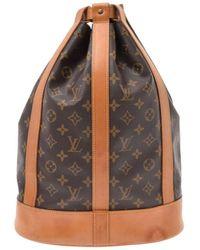 Louis Vuitton Bolsa de mano en lona marrón Randonnée