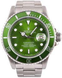 Rolex Reloj en acero verde Submariner