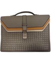 Bottega Veneta Grey Leather Bag - Gray
