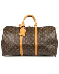 Louis Vuitton Sac week-end Keepall en toile - Marron