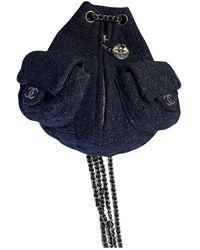 Chanel Sac à dos en Tweed Marine - Bleu