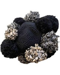 Diane von Furstenberg Black Wool Hats - Multicolour