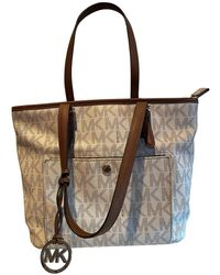 Michael Kors Leder Shopper - Natur