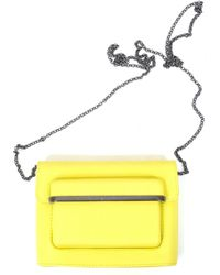 2bdb2015cef Mary Katrantzou Mvk Mini Leather Cross-body Bag in Yellow - Lyst