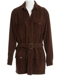 Polo Ralph Lauren - Brown Suede Jacket - Lyst
