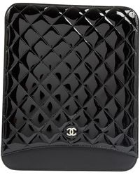 Chanel Petite maroquinerie en Cuir verni Noir