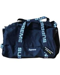 Supreme - Pre-owned Cloth Travel Bag - Lyst