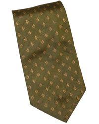 Burberry Khaki Silk Ties - Green