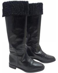 Manolo Blahnik - Leather Boots - Lyst