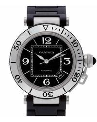Cartier Pasha Seatimer Black Steel Watch