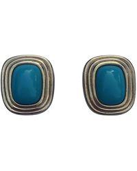 Dior Orecchini in metallo blu