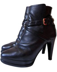 7006a1755743 Lyst - Ralph Lauren Collection Leather Concord High Heel Boots In ...