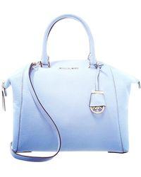 Michael Kors Riley Leather Handbag - Blue