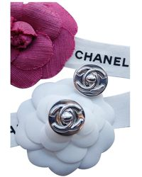 Chanel Boucles d'oreilles CC - Multicolore