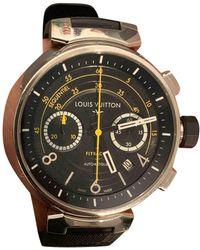 Louis Vuitton Tambour Chronographe Uhren - Schwarz