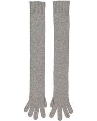 Hermès Kaschmir lange handschuhe - Grau