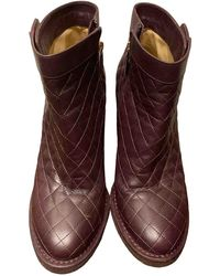 Chanel Leather Boots - Multicolour