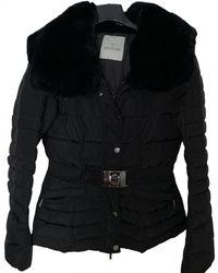 Moncler Plumífero Fur Hood - Negro