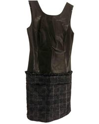 Theyskens' Theory Leather Mid-length Dress - Black