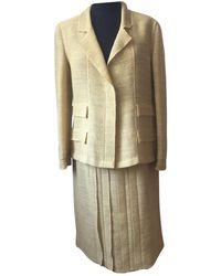 Chanel Wolle Kleider - Gelb