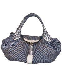 Fendi Spy Blue Cloth Handbag