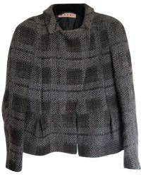 Marni - Pre-owned Grey Wool Jackets - Lyst