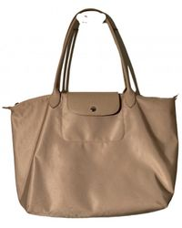 Longchamp Pliage Leinen Shopper - Natur