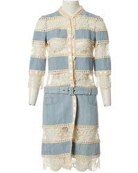 Dior Mantel en Coton Bleu