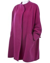 Christian Lacroix \n Pink Wool Coat