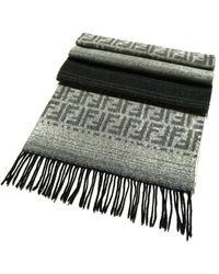 Fendi Wolle Schals - Grau