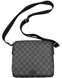 Louis Vuitton District Leinen Business tasche - Mehrfarbig