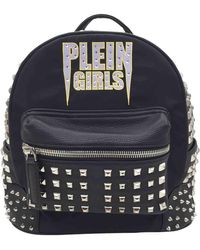 Philipp Plein Leather Backpack - Black