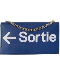 Vetements Blue Leather Handbag