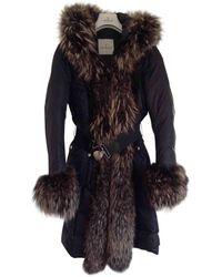 Moncler - Black Synthetic Coat - Lyst