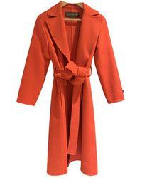 Louis Vuitton Cashmere Coat - Red