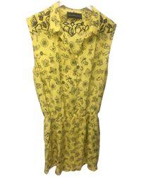 Zadig & Voltaire Silk Mini Dress - Yellow