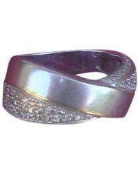 Balmain White Gold Ring - Grey