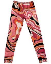 Emilio Pucci Pink Spandex Trousers